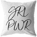 GRL PWR | Throw Pillow