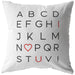 I Love You Alphabet | Throw Pillow
