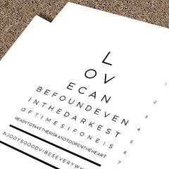 Love Eye Test | Framed Fine Art Print
