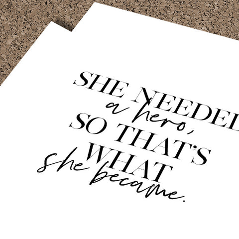 She Needed A Hero... | Framed Fine Art Print