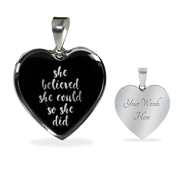 She Believed She Could... | Luxury Heart Necklace [Silver + Gold]