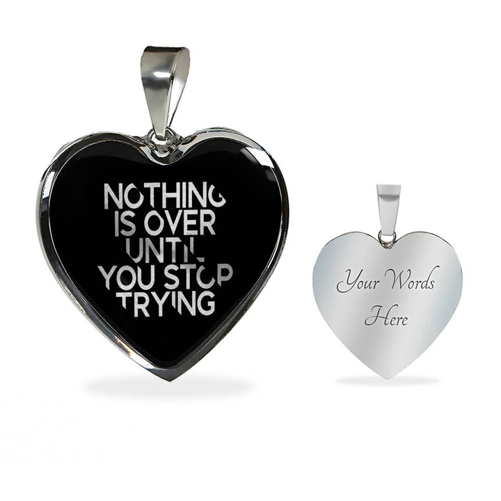 Nothing Is Over Until... | Luxury Heart Necklace [Silver + Gold]