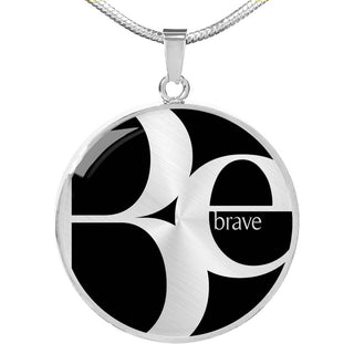 Be Brave | Luxury Circle Necklace [Silver + Gold]