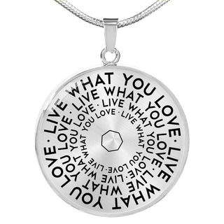 Live What You Love | Mantragon Necklace [Silver + Gold]