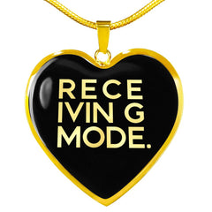 Receiving Mode | Luxury Heart Necklace [Silver + Gold]
