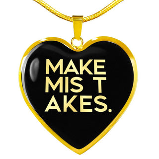 Make Mistakes | Luxury Heart Necklace [Silver + Gold]