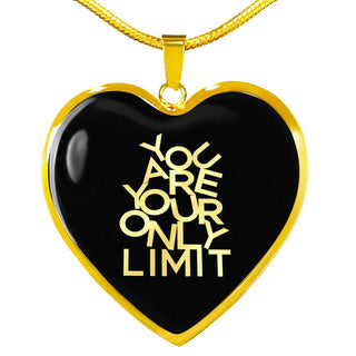 You Are Your Only Limit | Luxury Heart Necklace [Silver + Gold]