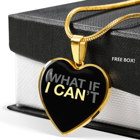 What If I Can | Luxury Heart Necklace [Silver + Gold]