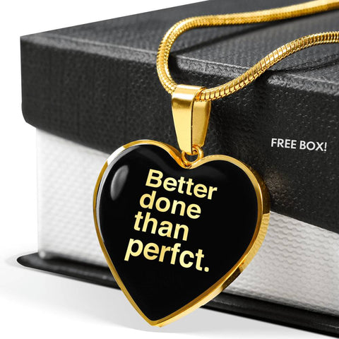 Better Done Than Perfect | Luxury Heart Necklace [Silver + Gold]