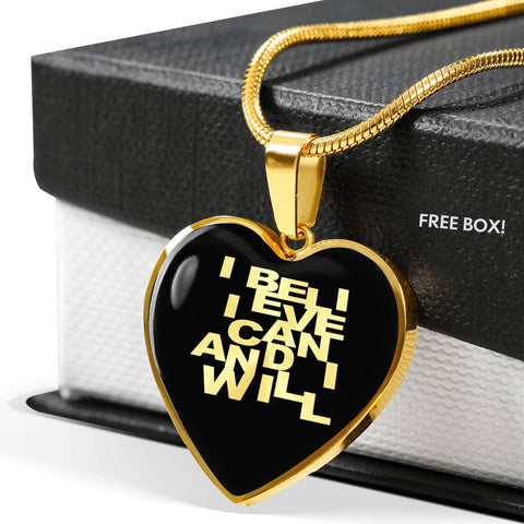 I Believe I Can... | Luxury Heart Necklace [Silver + Gold]