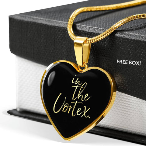 In The Vortex | Luxury Heart Necklace [Silver + Gold]