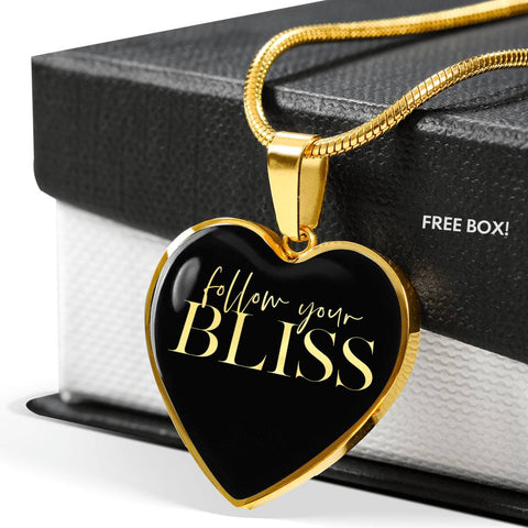 Follow Your Bliss | Luxury Heart Necklace [Silver + Gold]
