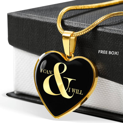 I Can & I Will | Luxury Heart Necklace [Silver + Gold]