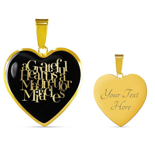 A Grateful Heart... | Luxury Heart Necklace [Silver + Gold]