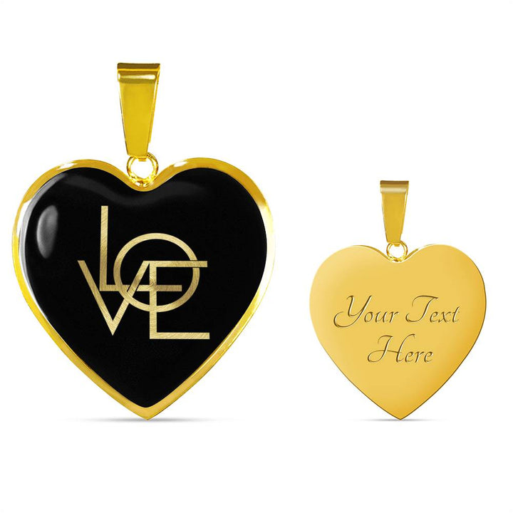 Love | Luxury Heart Necklace [Silver + Gold]