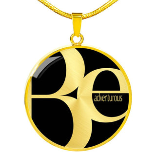 Be Adventurous | Luxury Circle Necklace [Silver + Gold]
