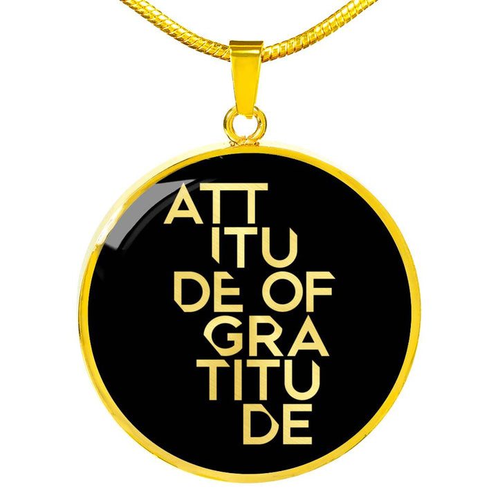 Attitude Of Gratitude | Luxury Circle Necklace [Silver + Gold]