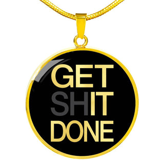 Get Shit Done | Luxury Circle Necklace [Silver + Gold]