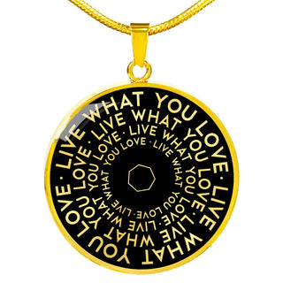 Live What You Love | Mantragon Necklace [Silver + Gold] Black Edition