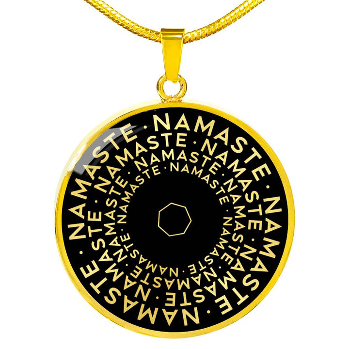 Namaste | Mantragon Necklace [Silver + Gold] Black Edition