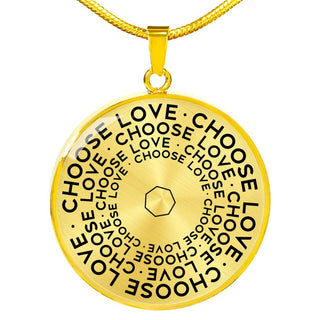Choose Love | Mantragon Necklace [Silver + Gold]