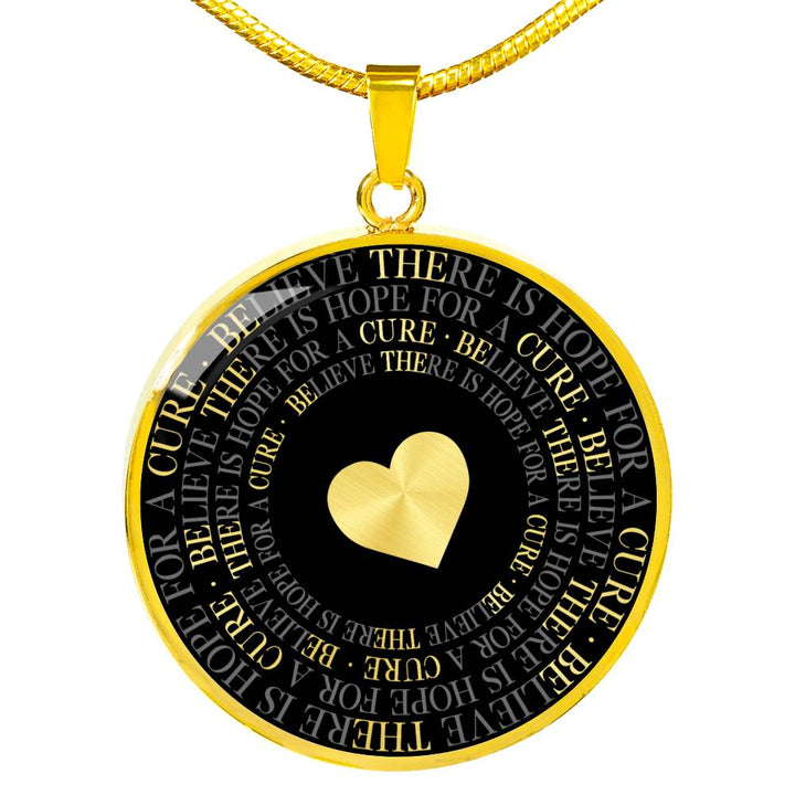 Be The Cure | Luxury Circle Necklace [Silver + Gold]