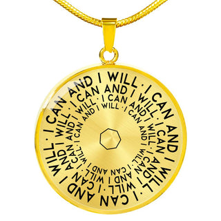 I Can And I Will | Mantragon Necklace [Silver + Gold]