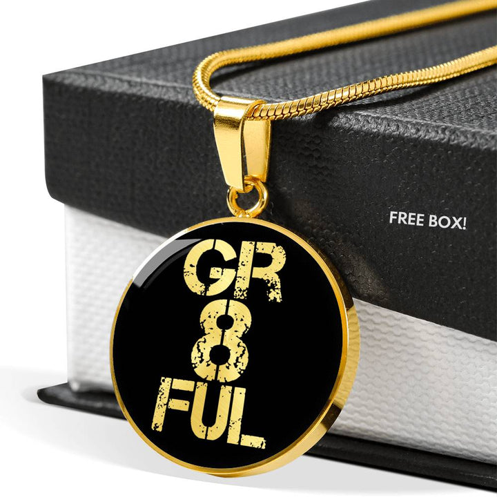 Gr8ful | Luxury Circle Necklace [Silver + Gold]