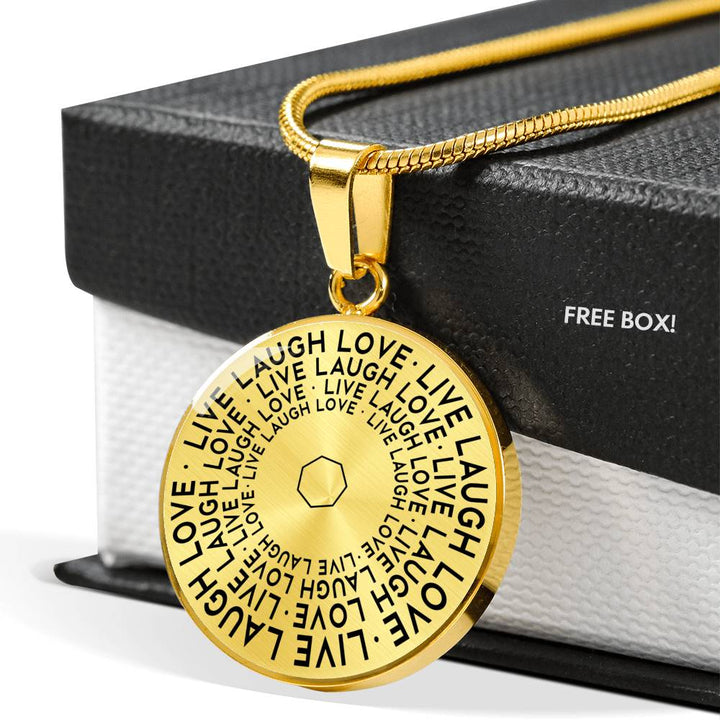 Live Laugh Love | Mantragon Necklace [Silver + Gold]
