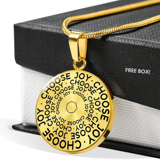 Choose Joy | Mantragon Necklace [Silver + Gold]