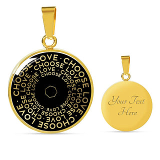 Choose Love | Mantragon Necklace [Silver + Gold] Black Edition
