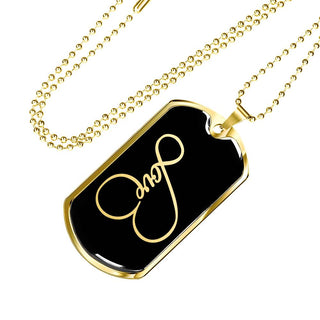 Eternal Love | Luxury Dog Tag [Silver + Gold]