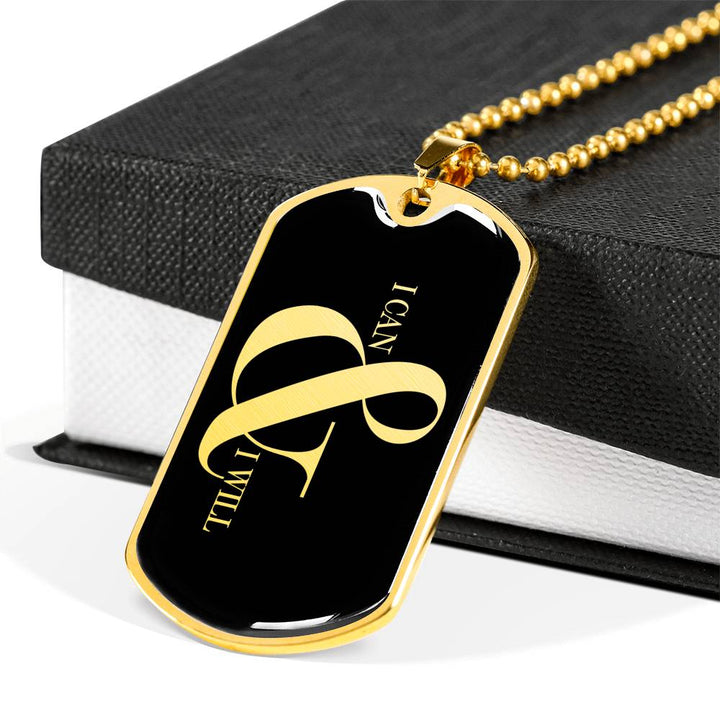 I Can & I Will | Luxury Dog Tag [Silver + Gold]