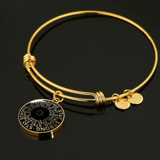 Stay Strong | Mantragon Bangle [Silver + Gold] Black Edition
