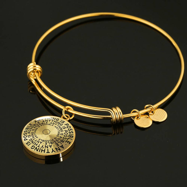 Anything Is Possible | Mantragon Bangle [Silver + Gold]