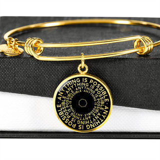 Anything Is Possible | Mantragon Bangle [Silver + Gold] Black Edition