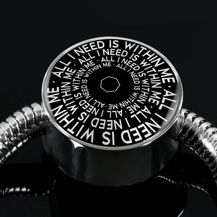 All I Need Is Within Me | Mantragon Luxury Bracelet [Black Edition]