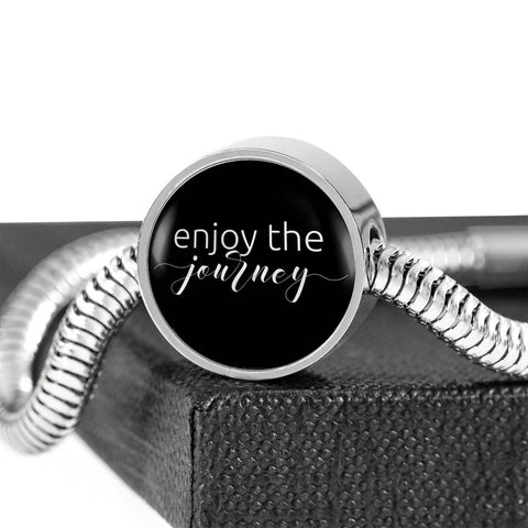 Enjoy The Journey | Luxury Circle Charm Bracelet