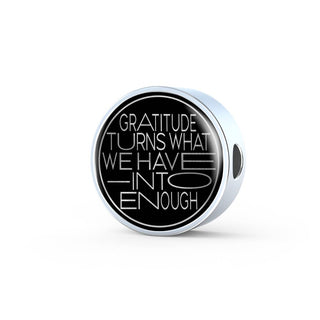 Gratitude Turns... | Luxury Circle Charm [Only]