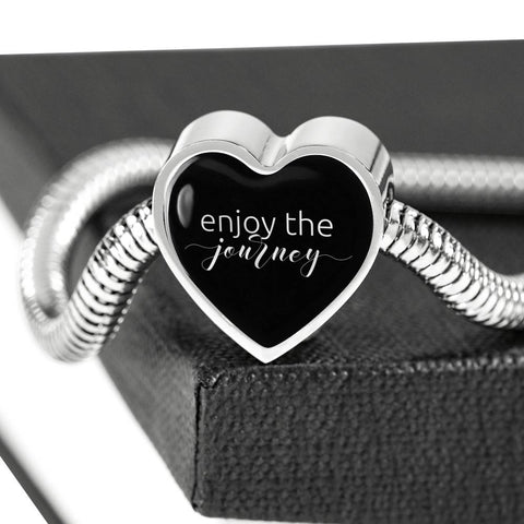 Enjoy The Journey | Luxury Heart Charm Bracelet