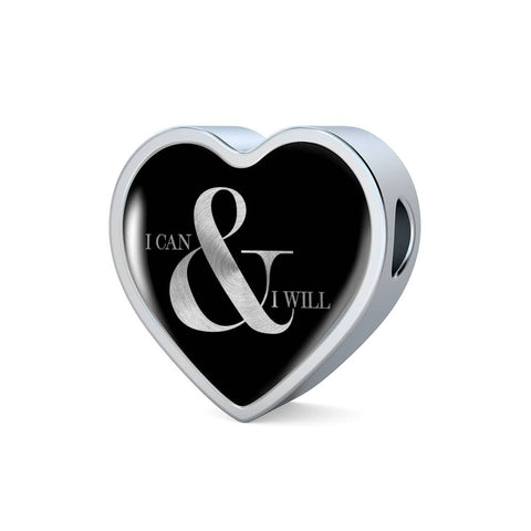 I Can & I Will | Luxury Heart Charm [Only]