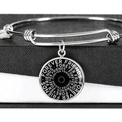 Forever Friends | Mantragon Bangle [Silver + Gold] Black Edition