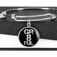 Gr8ful | Luxury Circle Bangle [Silver + Gold]