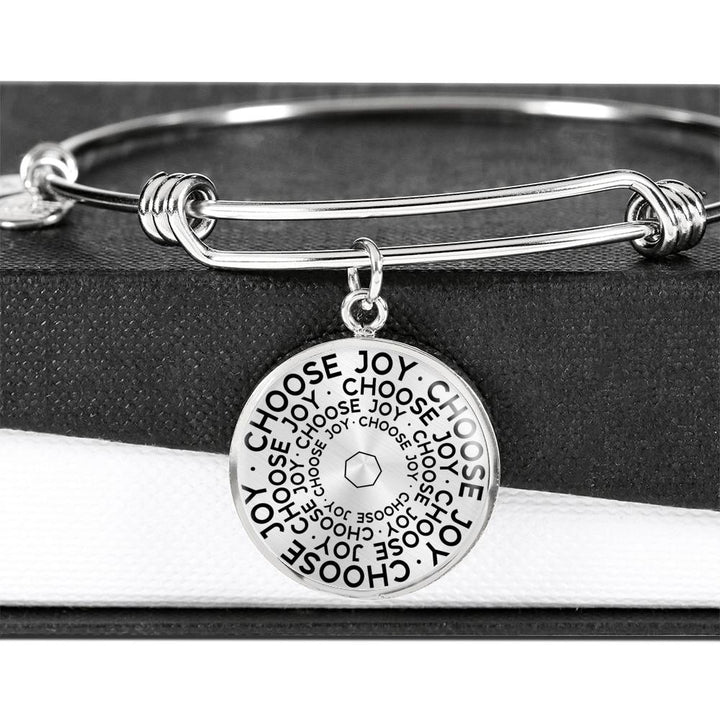 Choose Joy | Mantragon Bangle [Silver + Gold]