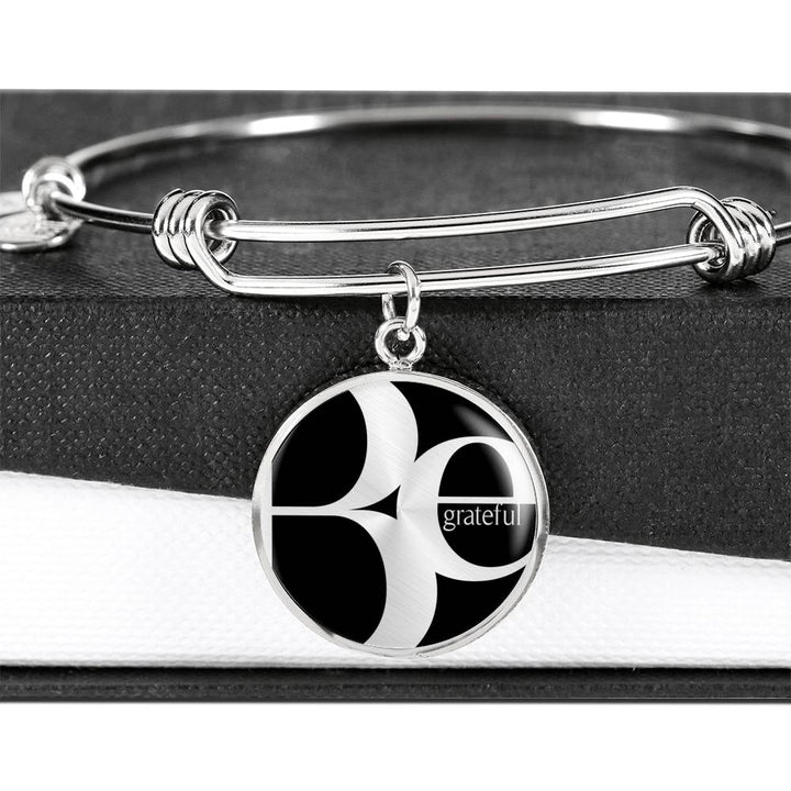 Be Grateful | Luxury Circle Bangle [Silver + Gold]
