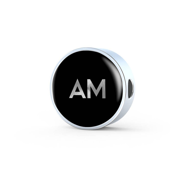 Am | Tell A Story Circle Charm Word