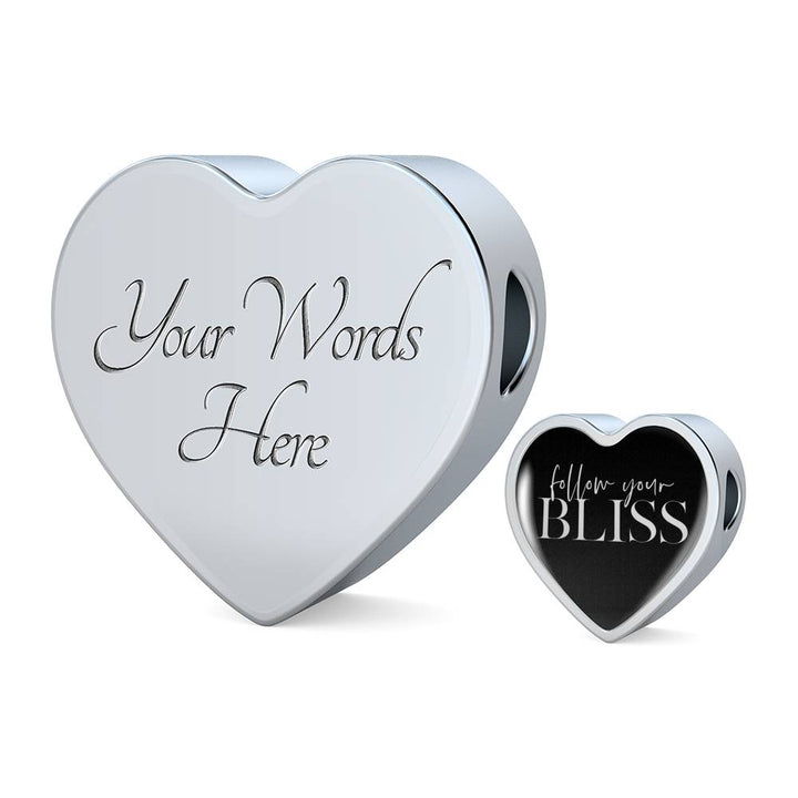 Follow Your Bliss | Luxury Heart Charm Bracelet