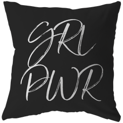 GRL PWR | Pillow [Black Edition]