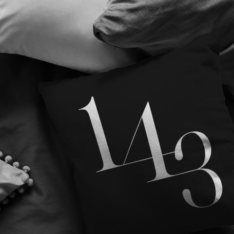 1 4 3 I Love You | Pillow [Black Edition]