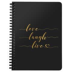 Love Laugh Live | Spiralbound Notebook [Glam Edition]